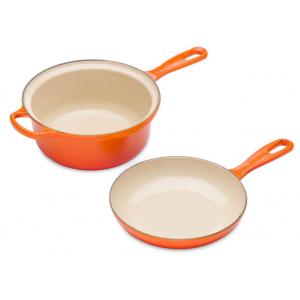 Le Creuset Duo Multipan 22 cm Oranjerood