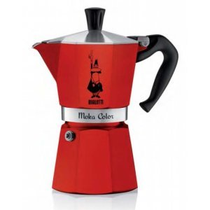Bialetti Percolator Moka Color Rood 6 kops