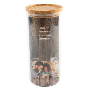 Voorraadpot Bamboe Deksel Groot