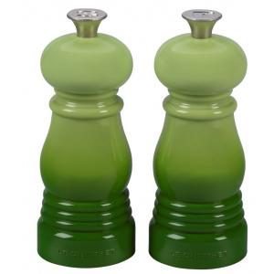 Le Creuset Mini Zout- en Pepermolenset 11cm Groen