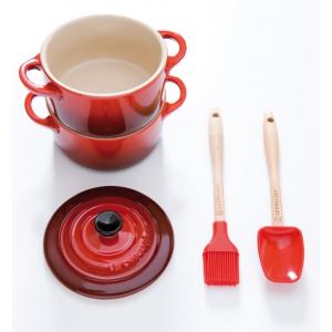 Le Creuset Silicone Mini Lepelspatel Rood