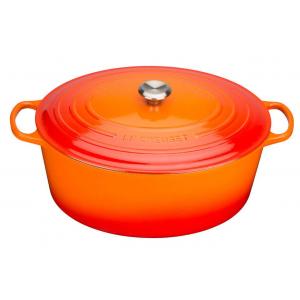 Le Creuset Signature Braadpan Ovaal 40 cm Oranje Rood