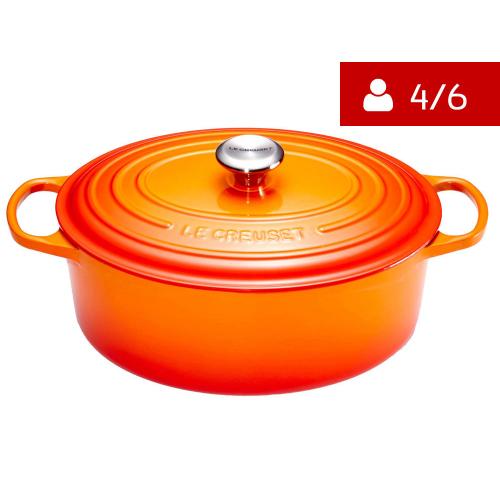 Le Creuset Signature Braadpan Ovaal 27 cm Oranjerood