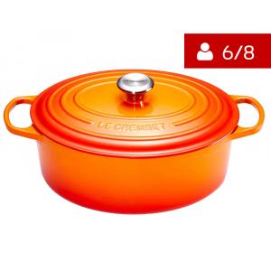 Le Creuset Signature Braadpan Ovaal 31 cm Oranje-Rood