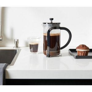 Leopold Vienna Shiny Black Cafetiere 1L
