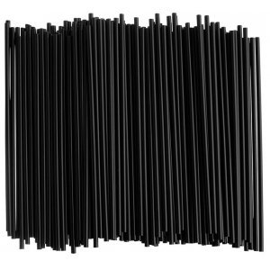 Zwarte Biologische Afbreekbare Rietjes (50 stuks)