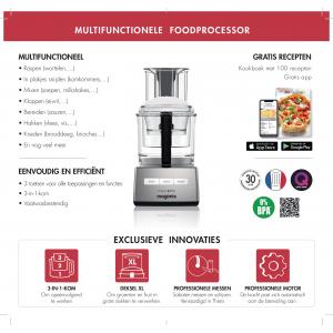 Magimix 3200 XL Compact Foodprocessor Zwart