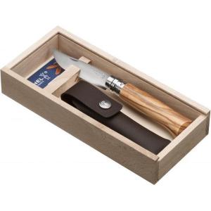 Opinel Zakmes met Olijfhout no. 8 Giftbox