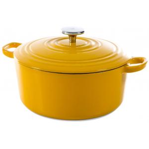 BK Bourgogne Gietijzeren Braadpan Sunny Yellow 28 cm