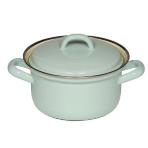 Riess Emaille Braad / Kookpan Licht Turquoise 14 cm