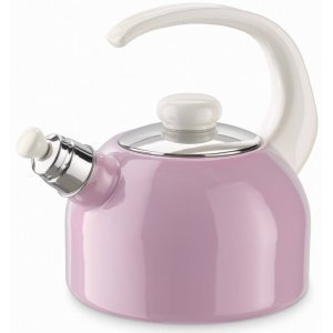 Riess Roze Emaille Fluitketel 20 cm