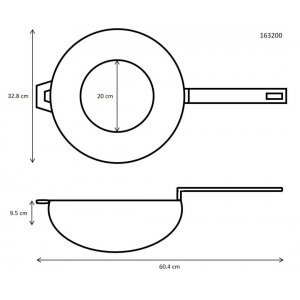 Ronneby Bruk Ultra Light Professional Gietijzer Wok 32 cm