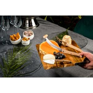 Laguiole Style de Vie Acacia Serveerplank met 3 Kaasmessen Eiken
