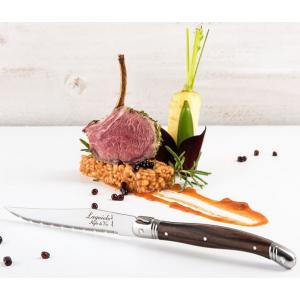 Laguiole Steakmessen Premium Line Donker Hout