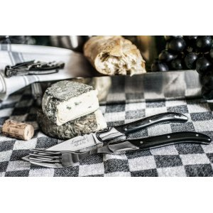 Laguiole Style De Vie Steakmessen En Vorkenset Ebbenhout