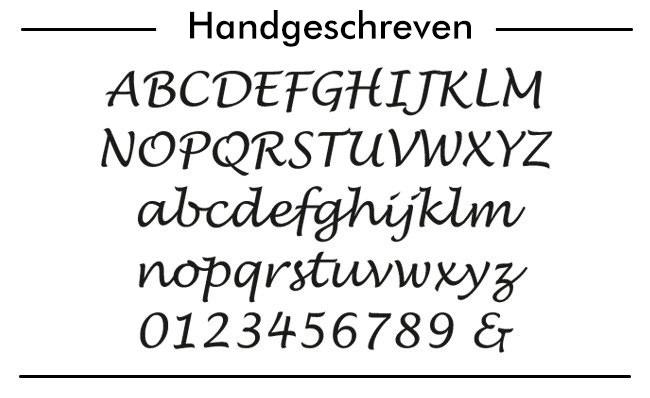 voorbeeld van Lucida Handwriting font