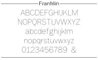 voorbeeld van franklin font