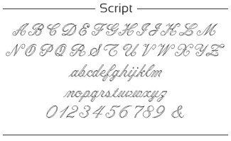 voorbeeld van scriptfont