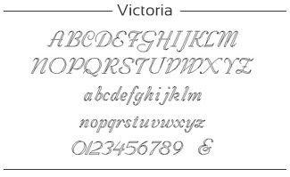 voorbeeld van Victoria font
