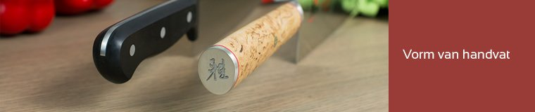 Japans messen hebben een d vorm handvat