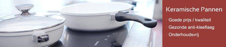 Koekenpannen met eer keramisch anti-aanbaklaag zijn gezond in gebruikt