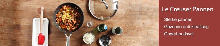 Geanodiseerde koekenpannen zijn keihard en hebben een gezonde anti-aanbaklaag