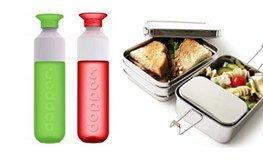 drinkflessen en lunchboxen