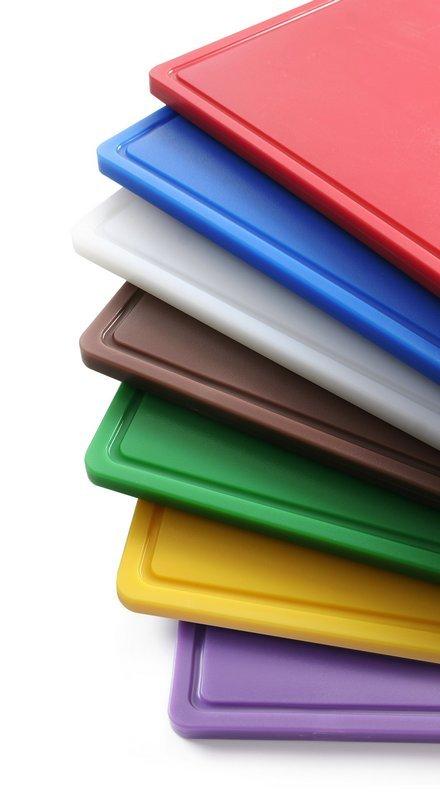 kunststof snijplanken in diverse kleuren