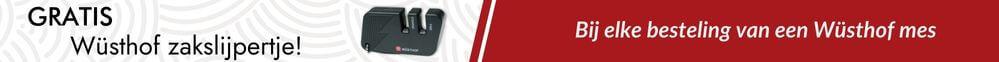 Gratis handig wusthof slijpertje t.w.v. 5,95 bij elke bestelling van Wusthof messen