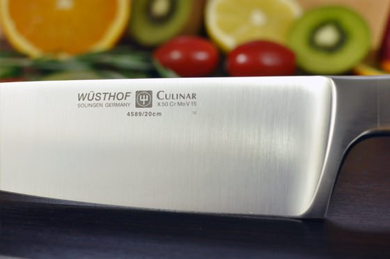 De wusthof culinar is gemaakt van keihard en vlijmscherp staal